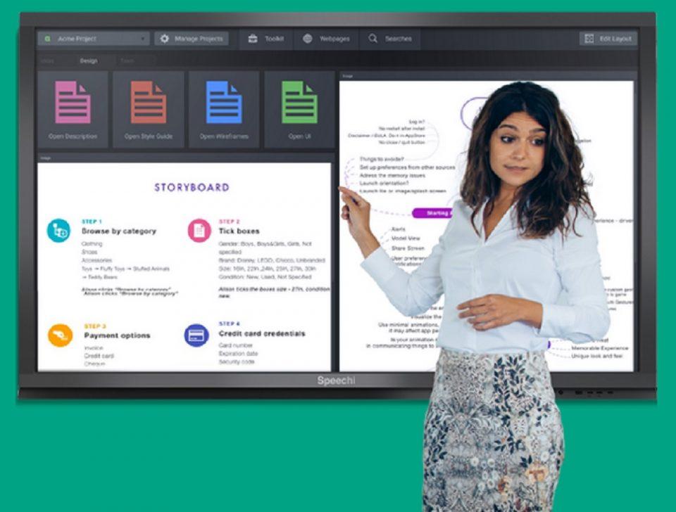 Plus d'efficacité en entreprise grâce à l'écran interactif